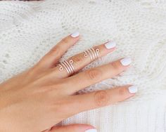Spiral Silver Rings- Knuckle Rings - Midi Rings - Above the Knuckle Rings -  Simple Silver Wrap Ring- Set of 2 by Tiny Box by TinyBox12 on Etsy https://www.etsy.com/listing/182529217/spiral-silver-rings-knuckle-rings-midi