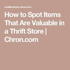 How to Spot Items That Are Valuable in a Thrift Store How to S… – – Thrift Store Crafts Thrift Store Donations, Thrift Store Shopping, Thrift Store Crafts, Thrift Stores, Thrift Shop Finds, Thrift Haul, Goodwill Finds, Garage Sale Tips, Vintage Kitchenware