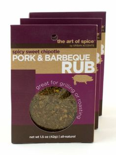 nice All Natural Spicy Sweet Chipolte Pork & Barbeque Rub (Pack of 3) 42 g 1.5 oz each