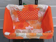Sunny Orange Flowers Bicycle Basket Liner by casarona on Etsy, $34.00