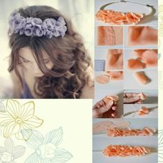 by angelica Ribbon Headbands, Ribbon Hair Bows, Diy Hair Bows, Diy Ribbon, Flower Headbands, Ribbon Flower, Baby Headbands, Hair Bow Tutorial, Fabric Flower Tutorial
