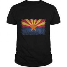 I Love Arizona flag - vintage retro style T-Shirts