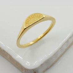 Sun Signet Ring Silver/Gold Vermeil/9ct Gold Matching Wedding Rings, Matching Rings, Sun And Moon Rings, Alternative Engagement Rings, Signet Ring, Engagement Ring Settings, Silver Rings, Silver Jewelry, Gold Jewellery