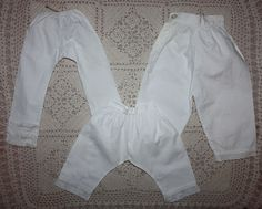 Three Pairs of Antique Bloomers