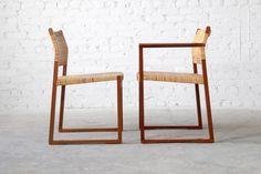 Børge Mogensen #BM61/62 Fredericia Mahogany Cane Dining Chairs Danish Modern 3