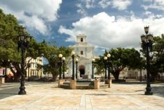 Town square in Arecibo, Puerto Rico. La Plaza, my parents use to spend afternoons there playing