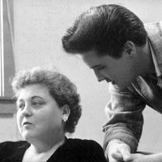 Elvis and his mother Gladys.