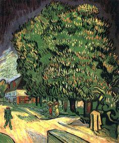 @PinFantasy - Vincent van Gogh, Chestnut Trees in Blossom, May 1890 - ✯ http://www.pinterest.com/PinFantasy/arte-~-pintura-v-van-gogh/