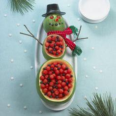 watermelon snowman - instructions