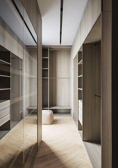 Residence in Moscow on Behance Hotel Bedroom Design, Master Bedroom Interior, Bedroom Closet Design, Master Bedroom Closet, Home Room Design, Home Decor Bedroom, Home Decor Furniture, Home Interior Design, Walk In Closet Design