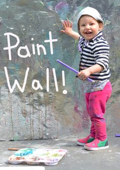 This outdoor paint wall by Meri Cherry would make a fabulous addition to any outdoor art area. I absolutely adore the idea of a shiny reflective surface, too! Toddler Art, Toddler Crafts, Toddler Activities, Activities For Kids, Outdoor Classroom, Classroom Ideas, Preschool Art, Summer Fun, Summer Bucket