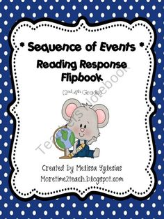 Sequence of Events: Reading Response Flip Book product from More-Time-2-Teach on TeachersNotebook.com
