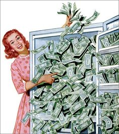 Win a Refrigerator Full of Cold Cash, 1959 by MewDeep, via Flickr