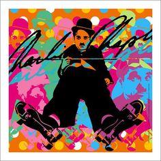 Lobo - Charlie Chaplin on Roller Skates Pop Art
