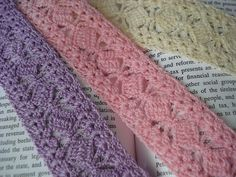 These are book marks but could use the strips for mile a minute afghan, in worsted yarn.