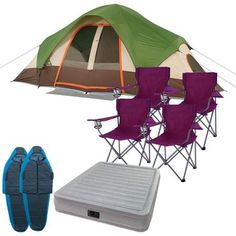 Ozark Trail 8 Person Dome Tent with Airbed Sleeping Bags and Chairs Value Bundle  sc 1 st  Pinterest & Ozark Trail 2-Person Dome Tent Wal Mart (reminder to buy) | The ...