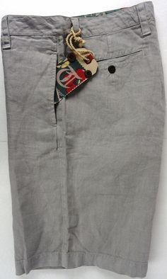 NWT Tailor Vintage Mens 34 Waist Shorts 100% Linen Beige/Khaki Flat Front New #TailorVintage #CasualShorts
