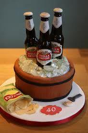 Beer Bottles Celebration Cake