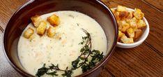 Recepty od maminky: Krémová česneková polévka | JenŽeny.cz Hummus, Mashed Potatoes, Food And Drink, Cheese, Ethnic Recipes, Whipped Potatoes, Smash Potatoes