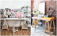 cavaletes, home office | http://casadasamigas.com/