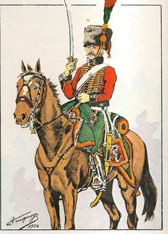 French; Consular Guard, Casseurs a Cheval,Chasseur at the review 28th November 1802 as per the daily order book