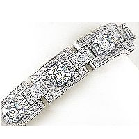 Asscher and Rounds Designer Inspired CZ Bracelet, 17.0 Ct TW