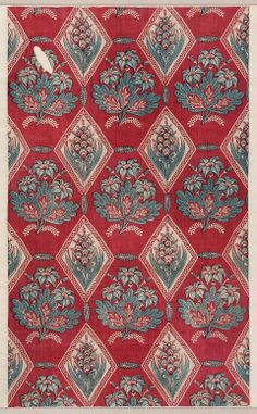 Printed cotton French, late 18th century