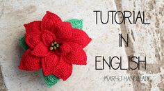 How to crochet a poinsettia | tutorial in English
