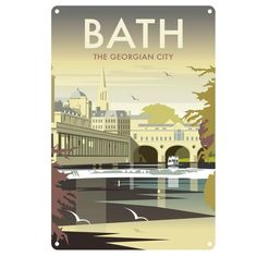 'Bath, Somerset' by Dave Thompson Graphic Art Star Editions