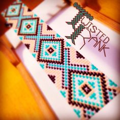 Turquoise, tan, and brown bracelet - Be sure to check out Twisted Rank Beadwork on Facebook!