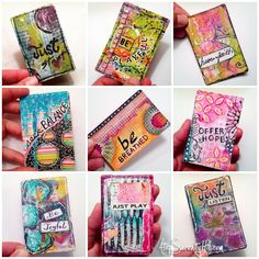 DIY Inspiration card deck from playing cards using mixed media techniques Art Journal Pages, Journal Cards, Art Journals, Kunstjournal Inspiration, Art Journal Inspiration, Atc Cards, Card Tags, Deck Of Cards, Card Deck