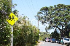 Watch out for Children Road Sign, New Zealand royalty-free stock photo