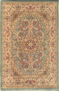 Sweet Home Medallion Ocean Green Area Rug