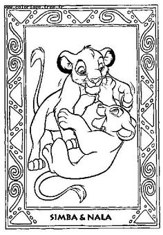 Lion King Coloring Page Print Lion King Pictures To