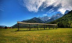 kozolec, Gozd Martuljek - hayrack, Forest Martuljek, Kranjska Gora