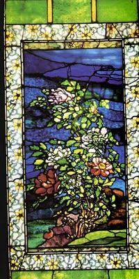 John La Farge - Peony stained glass