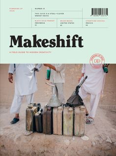 A new magazine find — Makeshift: A field guide to hidden creativity Editorial Design Layouts, Layout Design, Print Layout, Page Design, Book Design, Print Design, Lettering, Typography, Magazine Wall