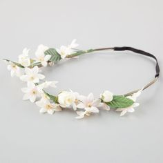 Full Tilt Goddess Flower Crown ($7.99) ❤ liked on Polyvore featuring accessories, hair accessories, flower crowns, ivory, headband hair accessories, stretch elastic headbands, flower crown headband, flower crown and floral garland