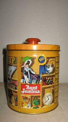 $14.99  1983 Vintage Aunt Jemima Pancakes and Syrup Collectible Tin Quaker with recipes