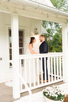 Sweet moment between this bride and groom's first look on a white porch. It was raining during this part of their wedding day, but The Barn at Raccoon Creek in Denver had a rain plan for their day! To see more from this Denver wedding head over to the blog! Spring Wedding, Wedding Day, White Porch, Rain Photography, Barn Wedding Venue, Dance The Night Away, Bride Groom, Denver, Weddings