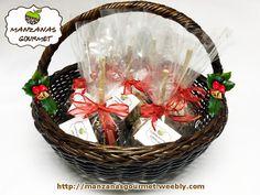Canasta con 4 Manzanas Gourmet - Especial NAVIDAD