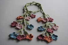 Ravelry: Flowers on the Vine Crochet Scarf pattern by Suzanne Carlson