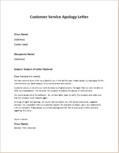 apology letter to customer employee workplace leaving announcement letter at 20479