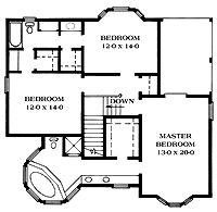 Floor Plans AFLFPW10078 - 2 Story Queen Anne Home with 3 Bedrooms, 2 Bathrooms and 2,243 total Square Feet