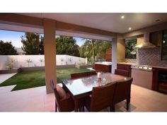 Alfresco with built-in BBQ and patio/garden