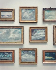 Cloud Gallery Wall: - Constable and Cloud Studies at the Yale Centre for British Art from the wonderful gallery of Memes Arte, Arte Fashion, Fashion Beauty, Illustration Art, Illustrations, Photo Instagram, Oeuvre D'art, Graphic, Art Inspo