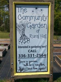 COMMUNITY GARDEN, APRIL, 2016