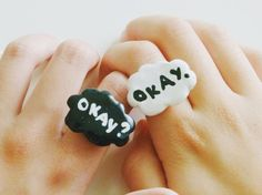 Okay Okay. The Fault in Our Stars Ring SET by MostlyHarmlessGifts, $5.49