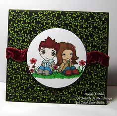 Twilight rubber stamp card