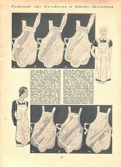 "Illustrierte Wäsche- und Handarbeits-Zeitung 1935 heft 1. Model 14387: B35"" (90 cm). Model 14388: B45"" (114 cm). PDF sewing patterns for these models available upon request, please contact me for more information."